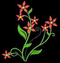 PNG - Arabesco vermelho 6
